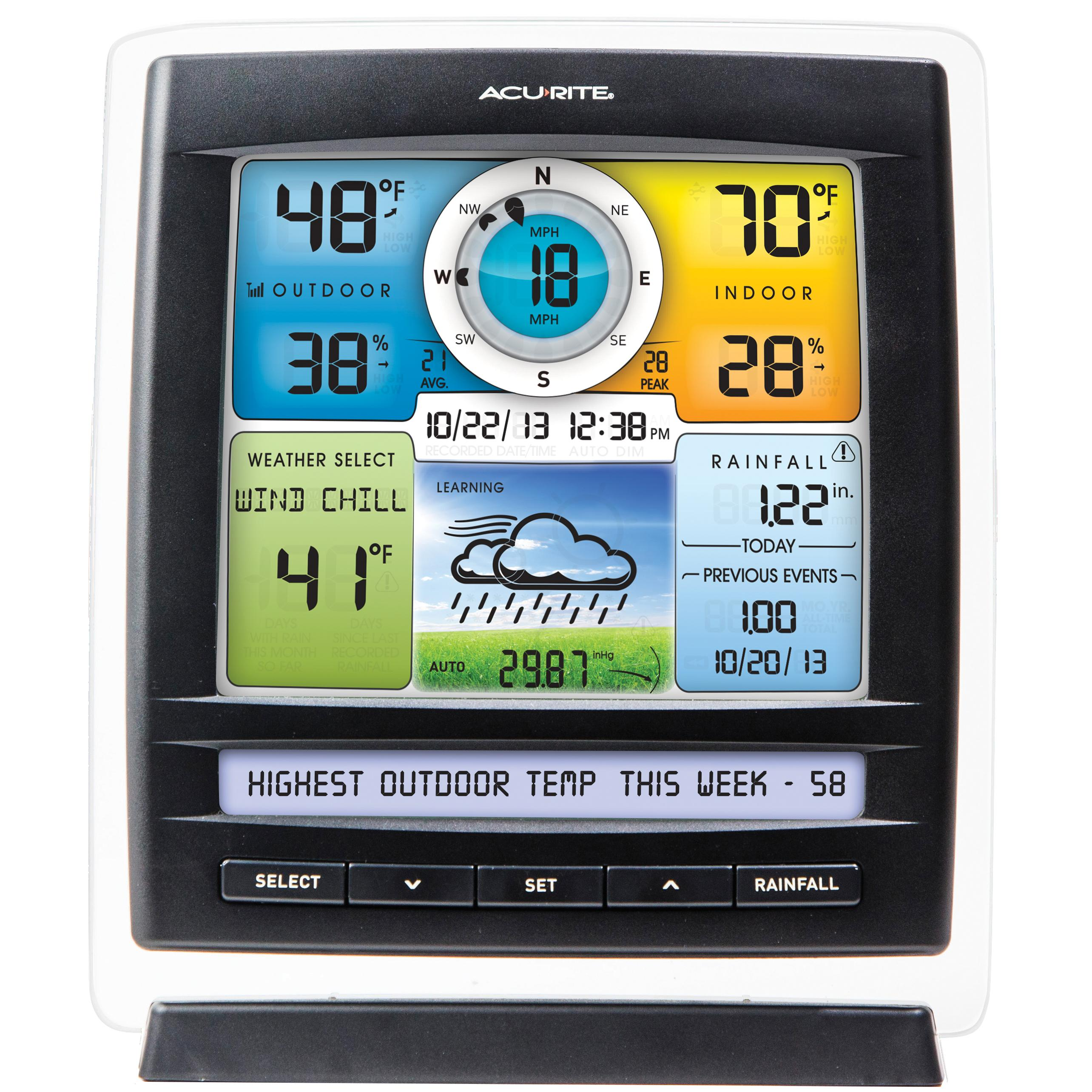 Amazon.com - AcuRite 01512 Pro Color Weather Station with ...
