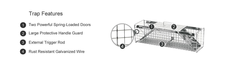 Amazon Com Havahart 1030 Live Animal Two Door Rabbit