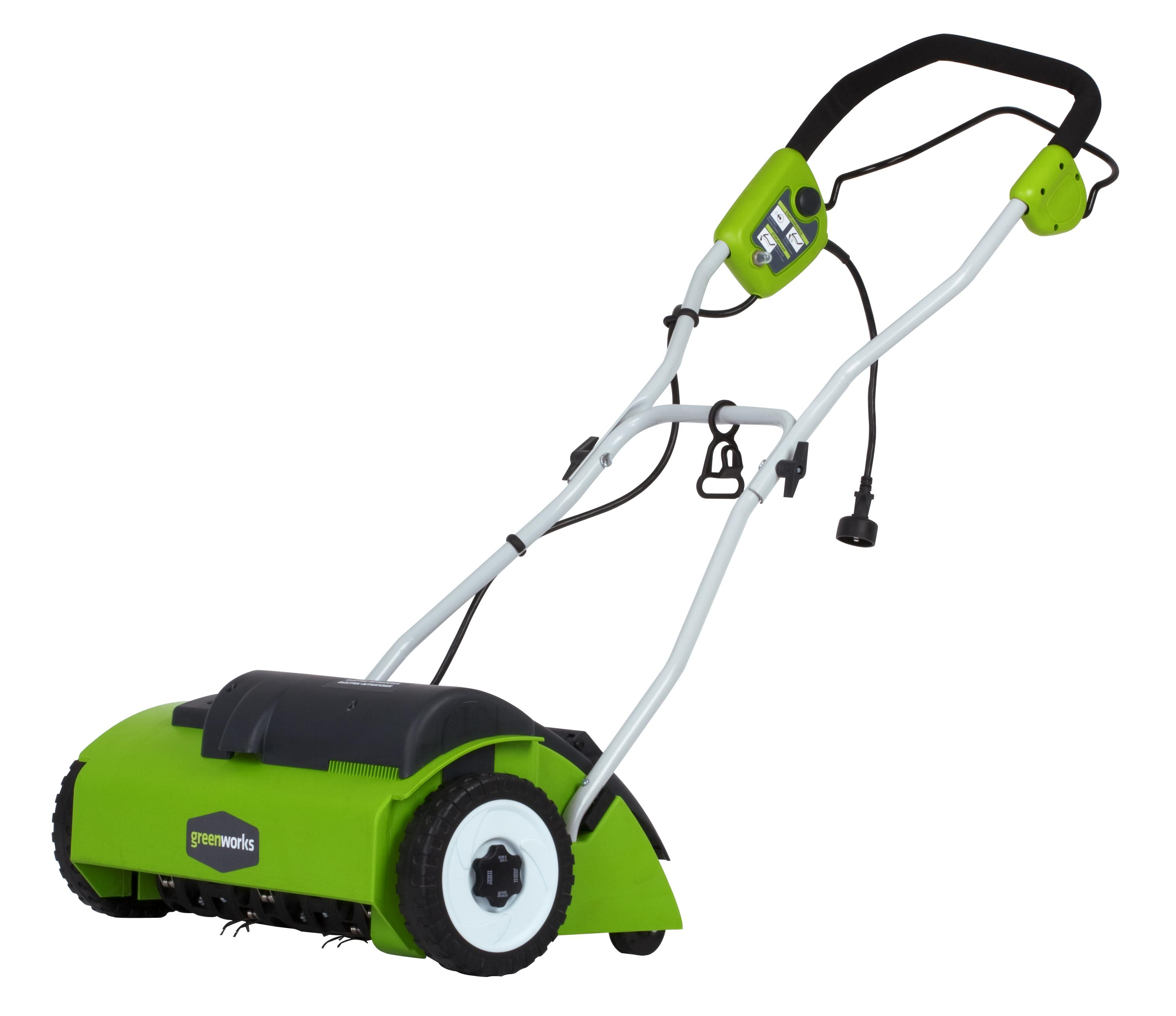 "Amazon.com : GreenWorks 27022 10 Amp 14"" Corded Dethatcher"