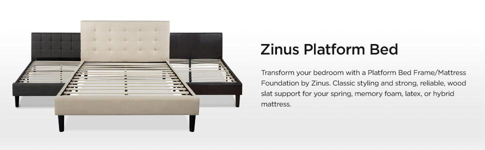 Amazon Com Zinus Upholstered Button Tufted Platform Bed