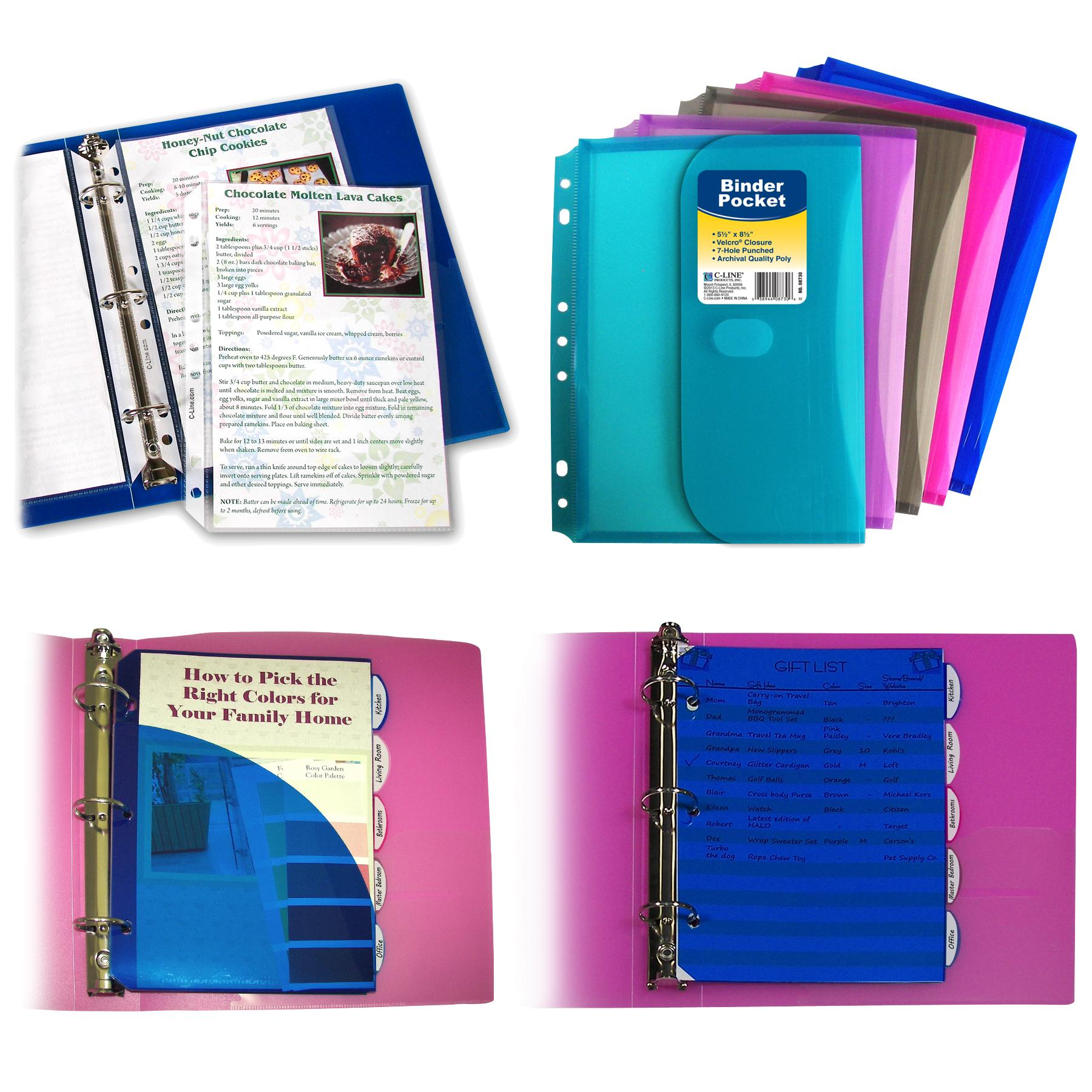 Amazon.com : C-Line 3-Ring Poly Binder With Inner Pocket