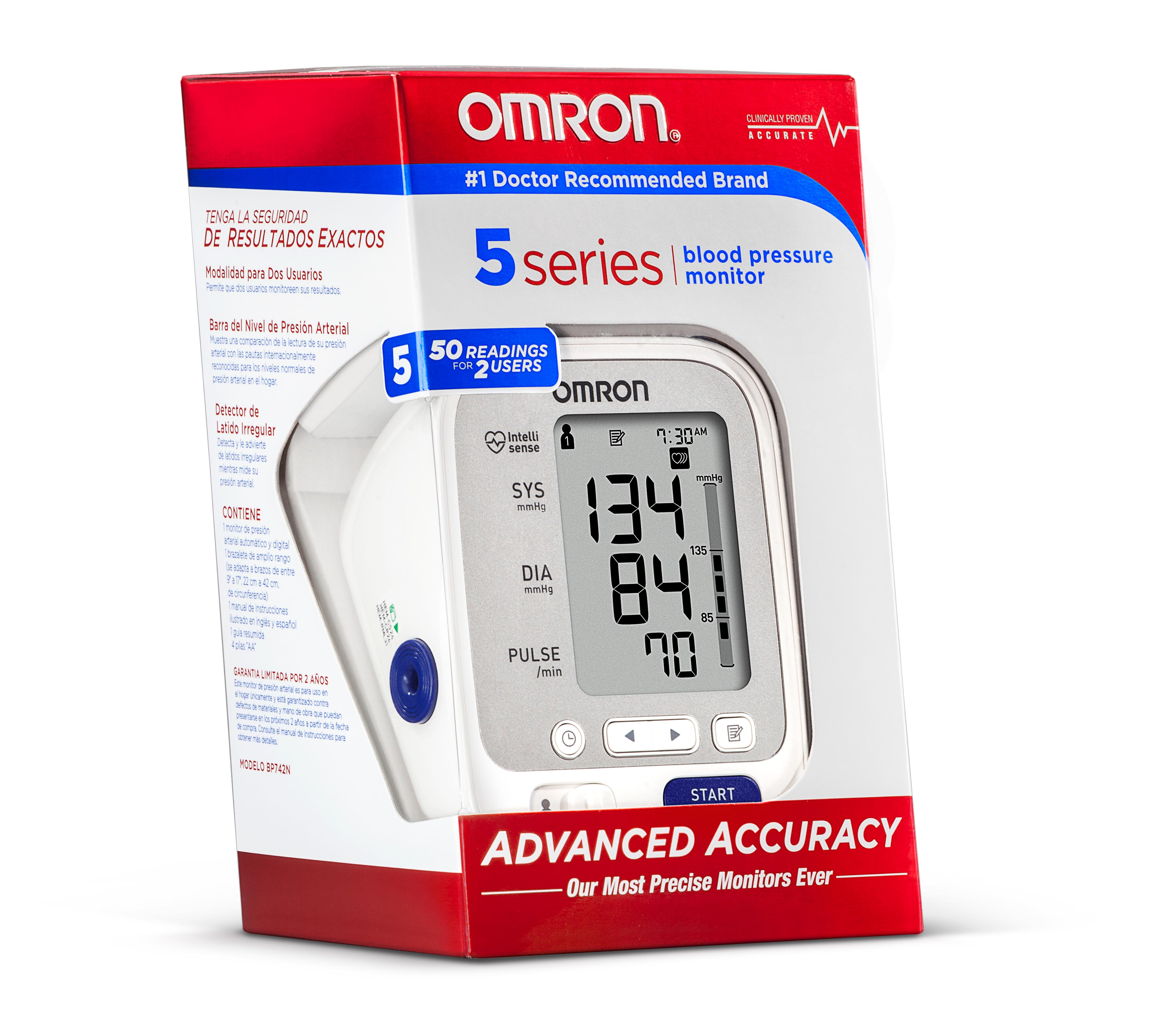 Omron 10 Series Digital Upper Arm Blood Pressure Monitor Plus Bluetooth Smart Technology. Manage and track your last readings on your smartphone, compatible with Apple iPhone 5, 5C, 5S, iOS 7 Feel empowered by accuracy with exclusive TruRead technology that automatically takes three consecutive readings one Reviews: