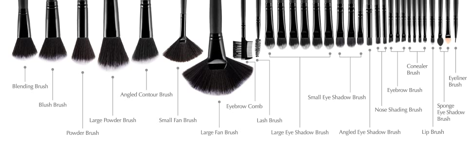 Amazon.com: Makeup Brushes, USpicy Make Up Brush Set 32 ...