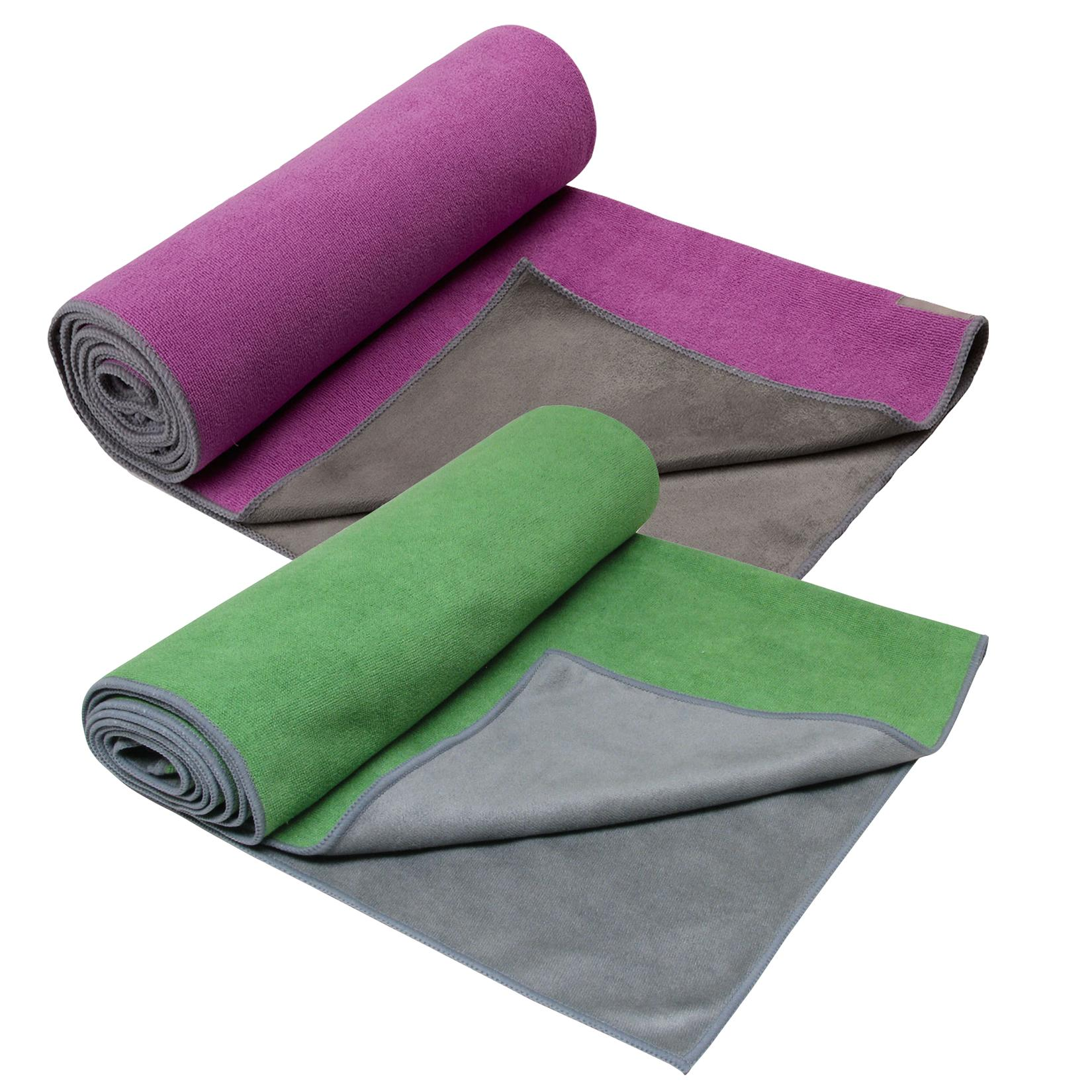 Amazon.com: Gaiam Dual-Grip Yoga Mat Towel (Green Vine