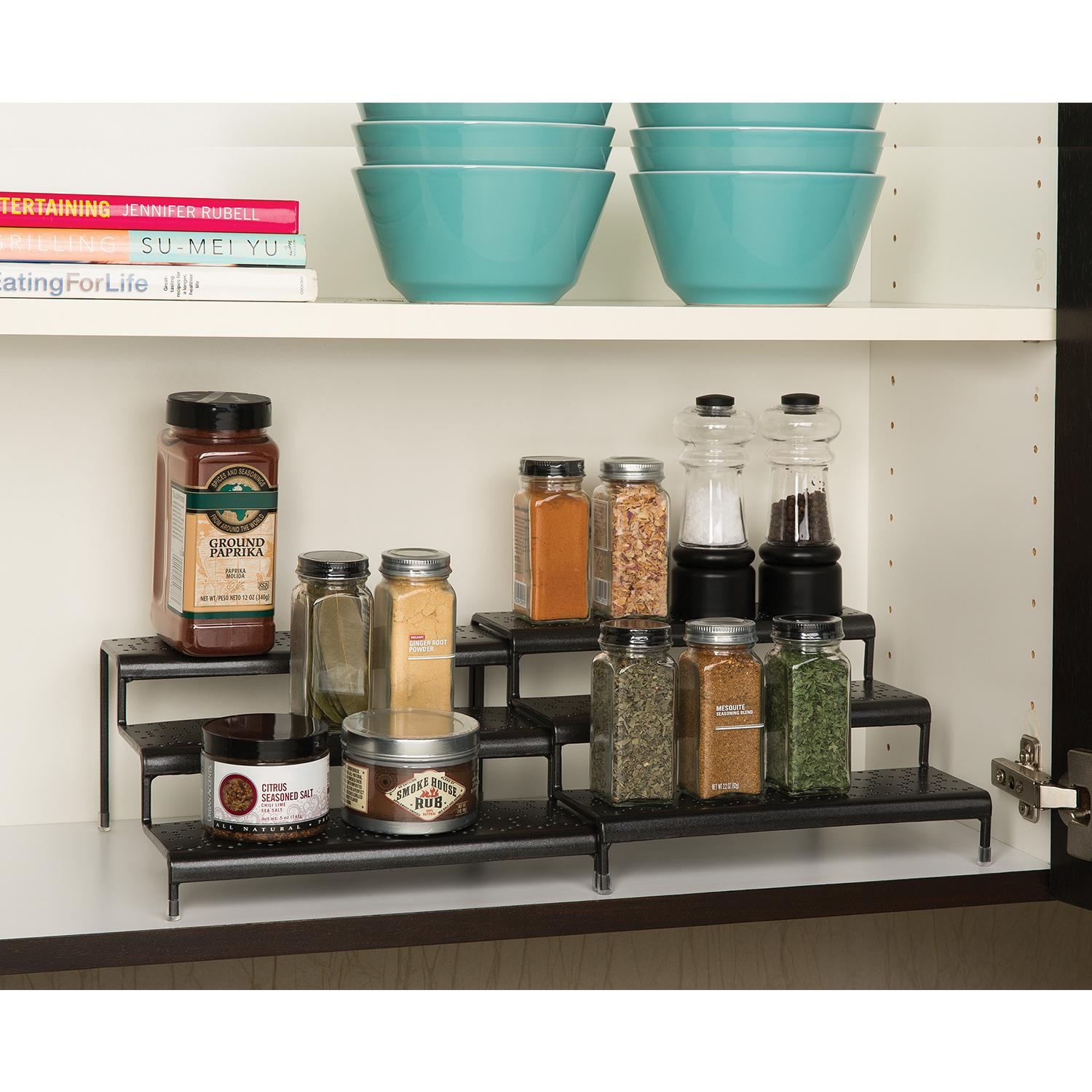 Amazon Com Seville Classics 3 Tier Expandable Spice Rack
