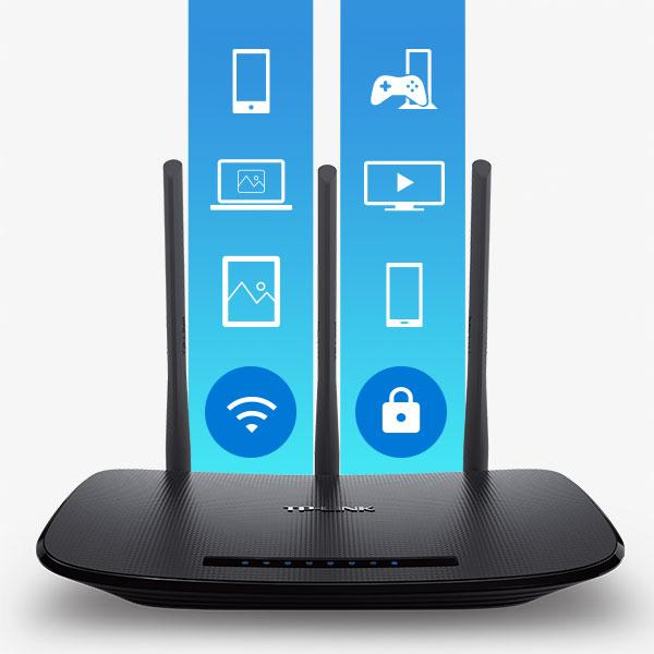 TP LINK TL WR940N V3 Wireless N450 Home Router, 450Mbps, 3 External  Antennas, IP QoS, WPS Button Ne