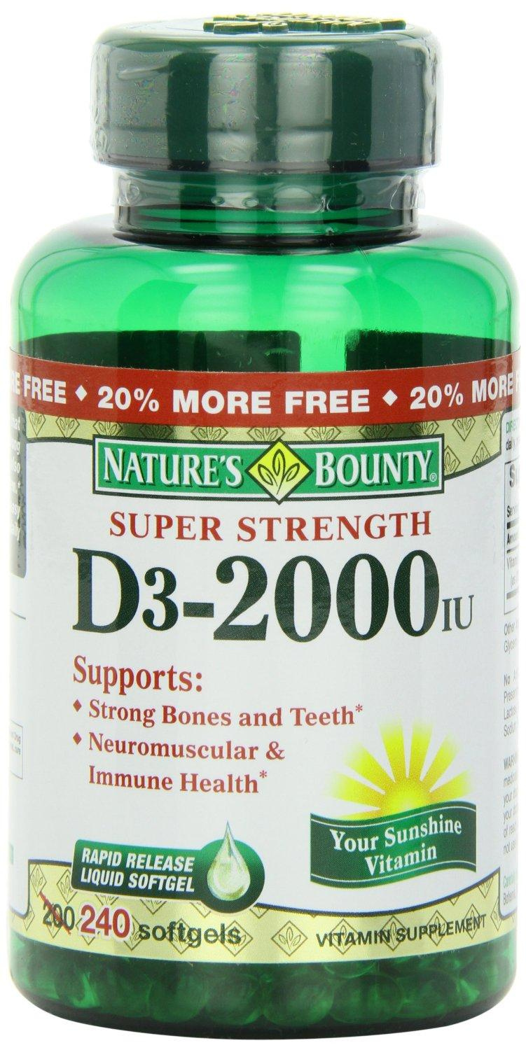 bounty vitamin 2000 softgels d3 nature iu rapid release natures liquid ingredients designed amazon care health personal quickly allow enter
