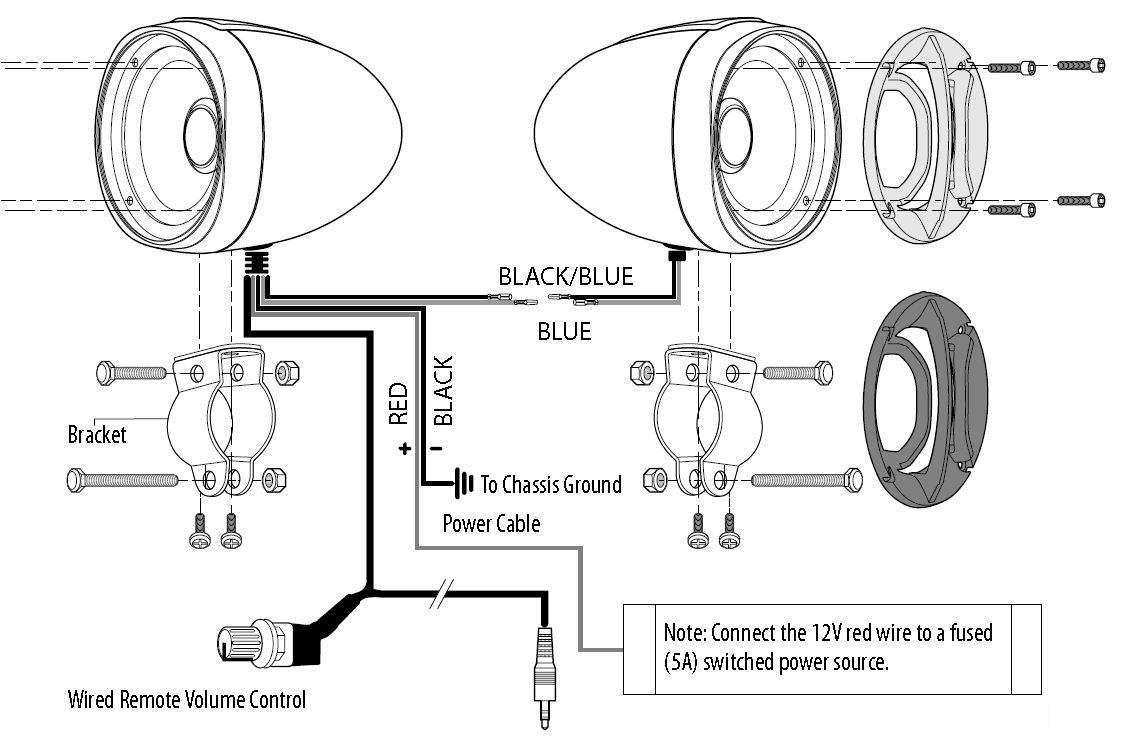 Sistema Utv Amplificado De Bocinas Boss Audio Mc300 Para