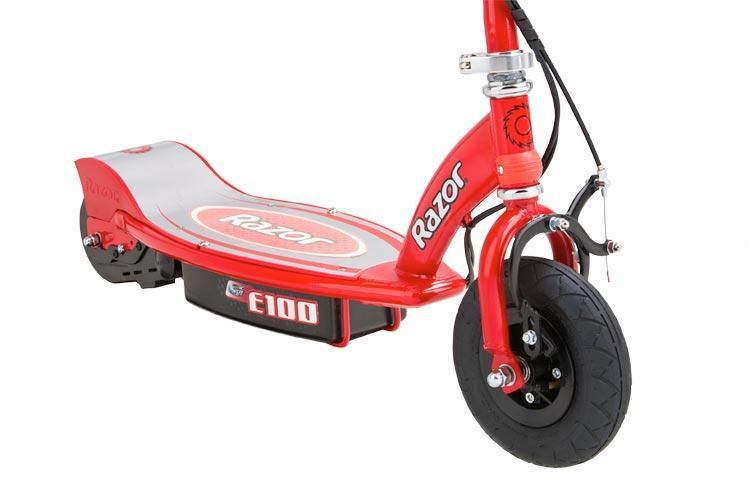 razor e100 electric scooter red electric. Black Bedroom Furniture Sets. Home Design Ideas