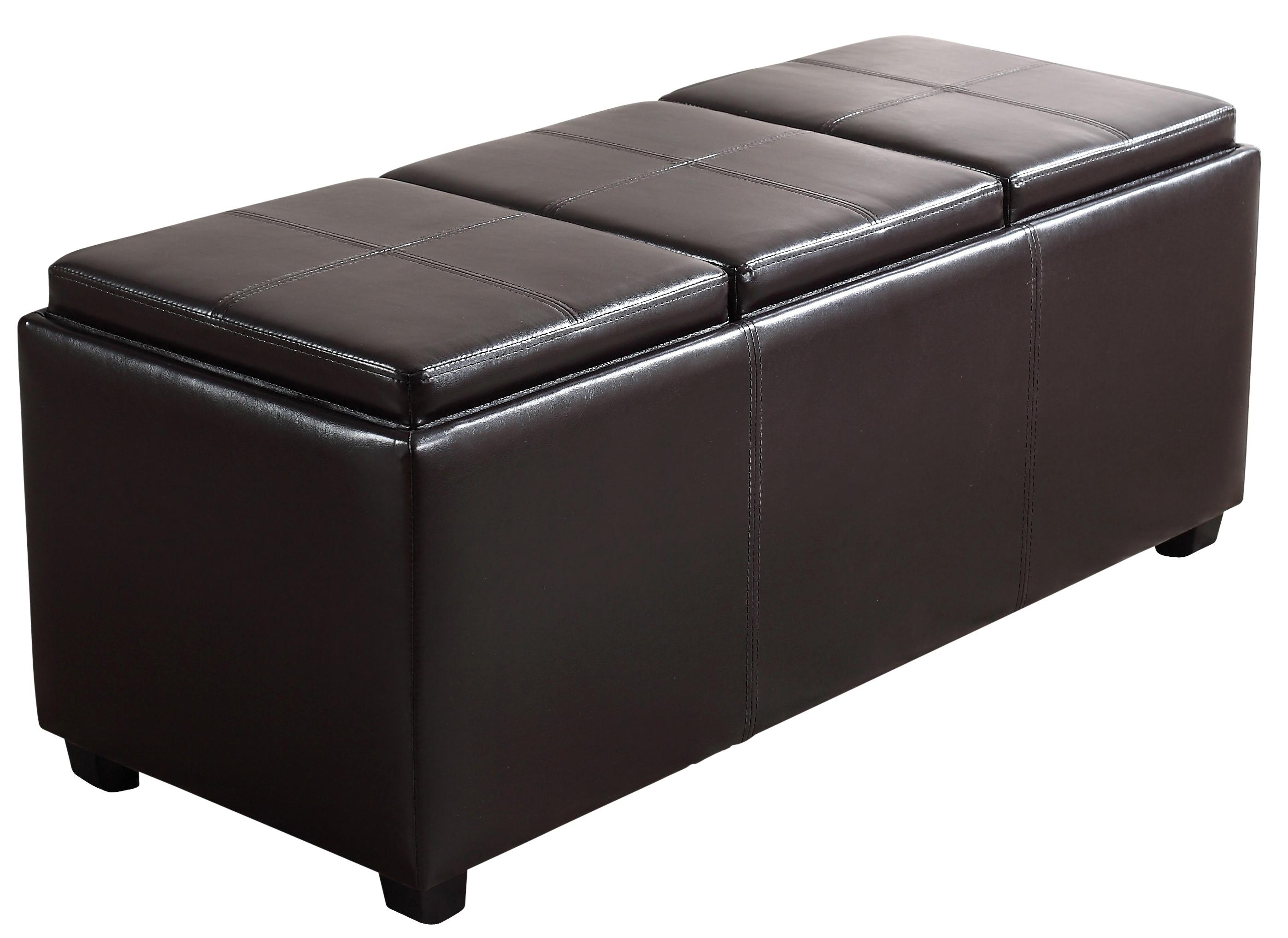 Simpli Home Avalon Faux Leather Rectangular