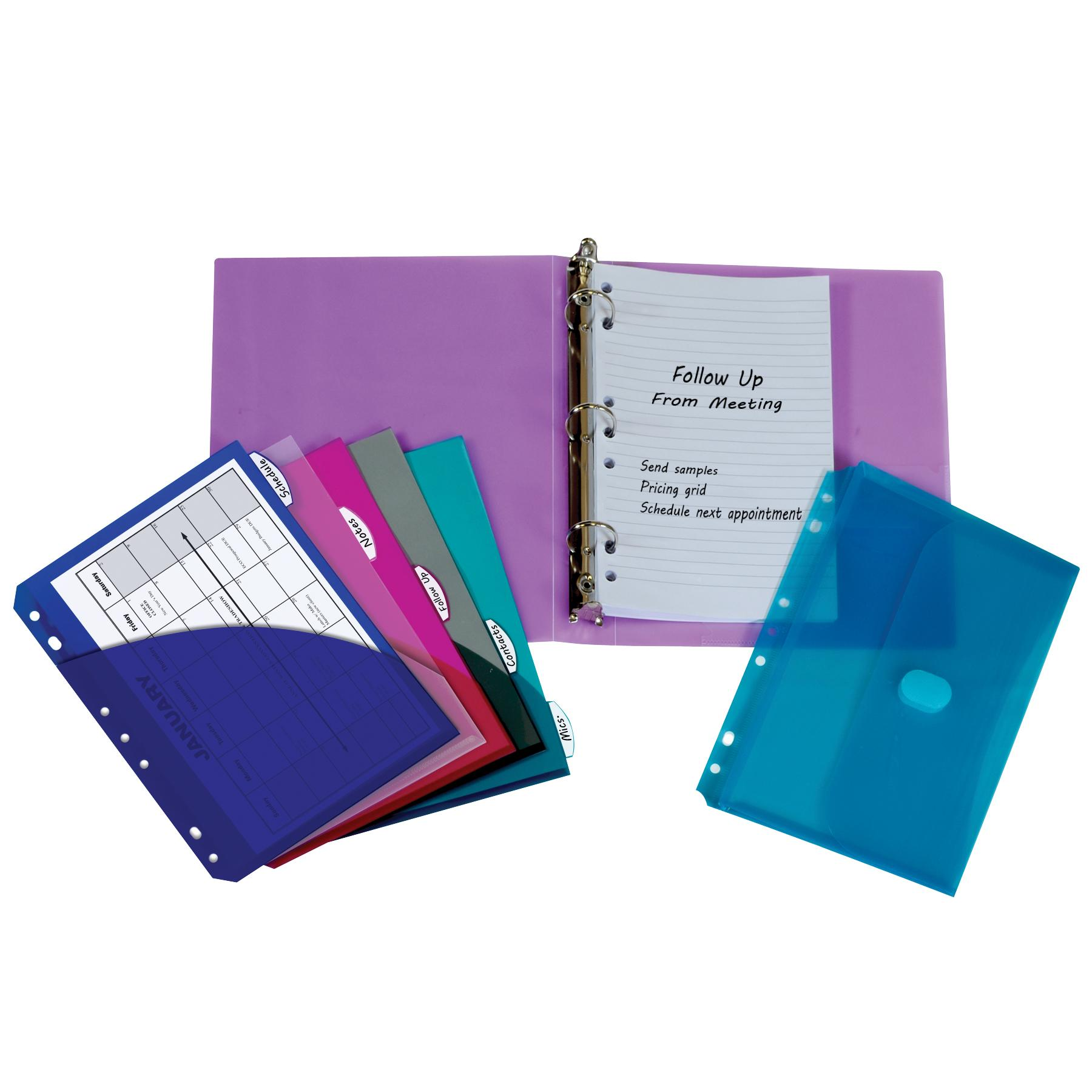 Amazon.com: C-Line 3-Ring Poly Binder With Inner Pocket