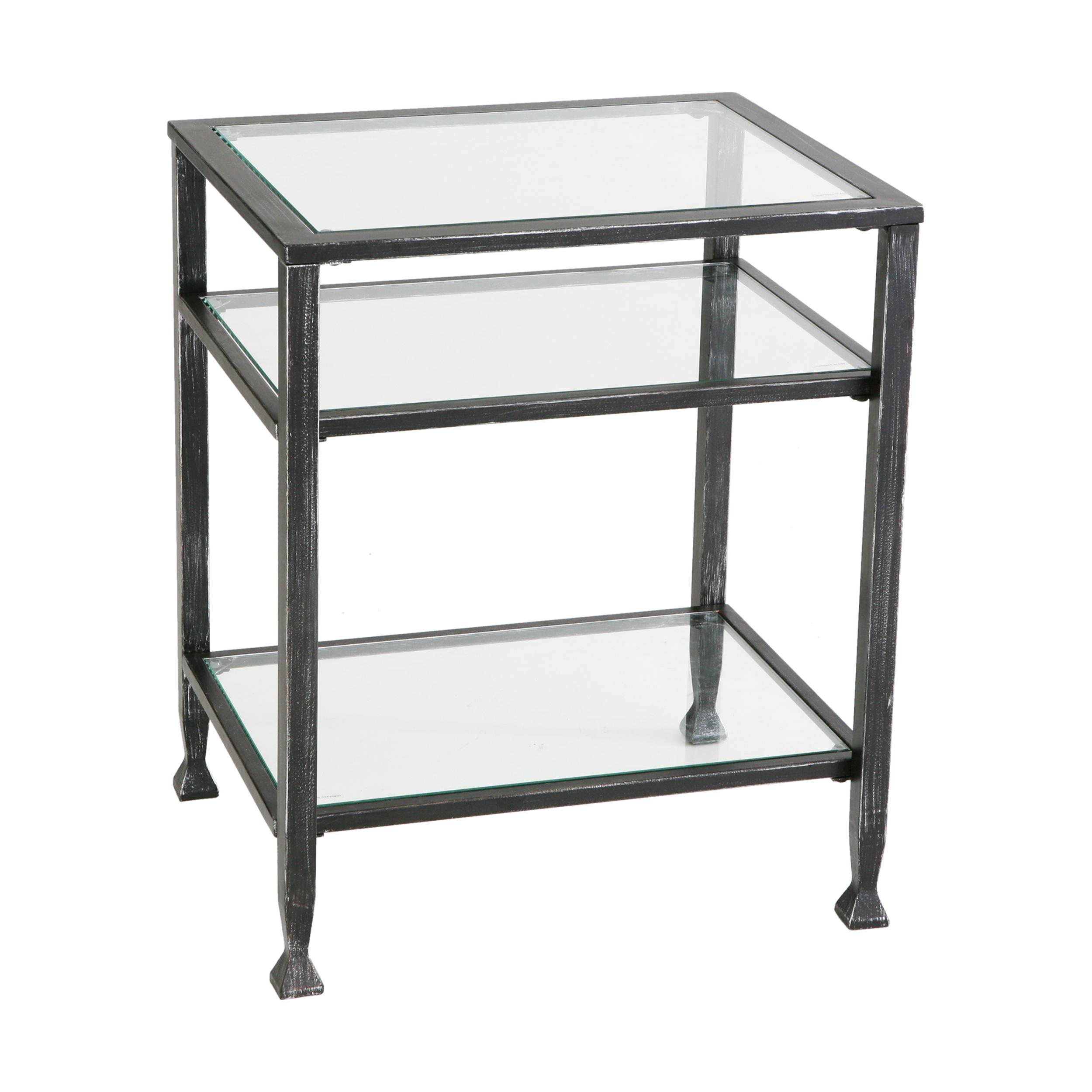 Black Glass Coffee Table Amazon: SEI Bunching Metal End Table
