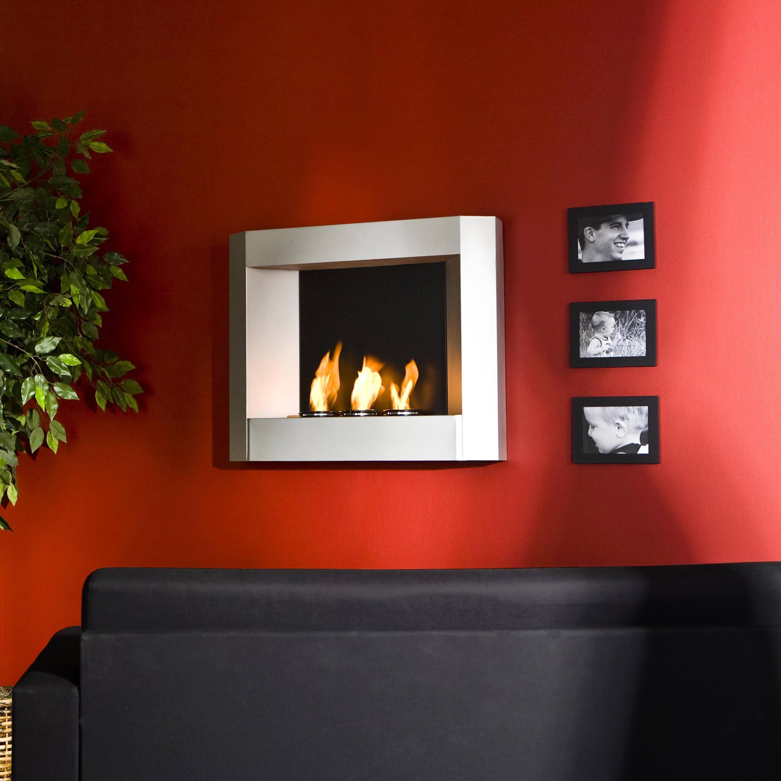 Amazon Com Sei Contemporary Wall Mount Gel Fuel Fireplace