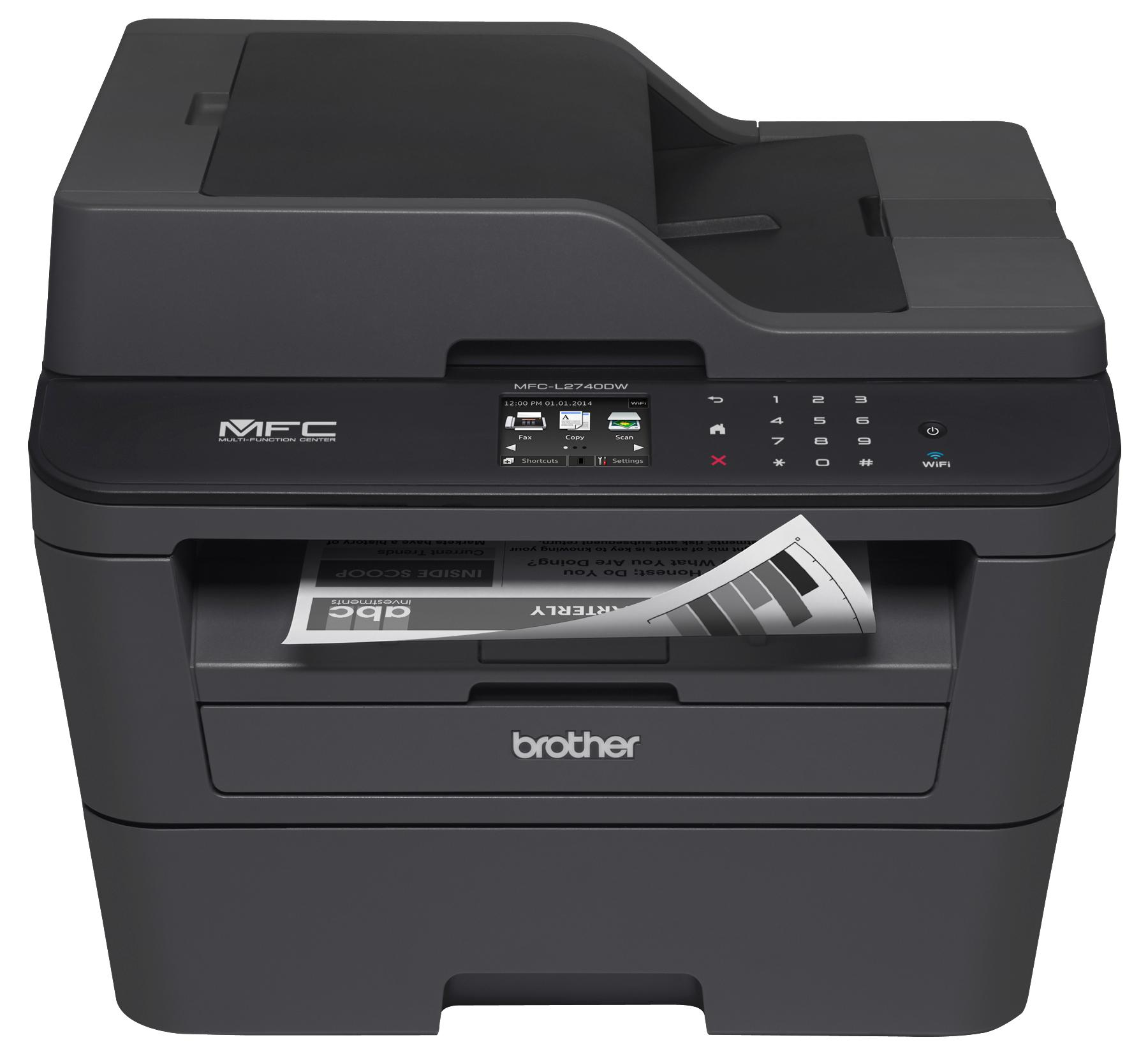 Brother Mfcl2740dw Wireless Monochrome Printer Scanner