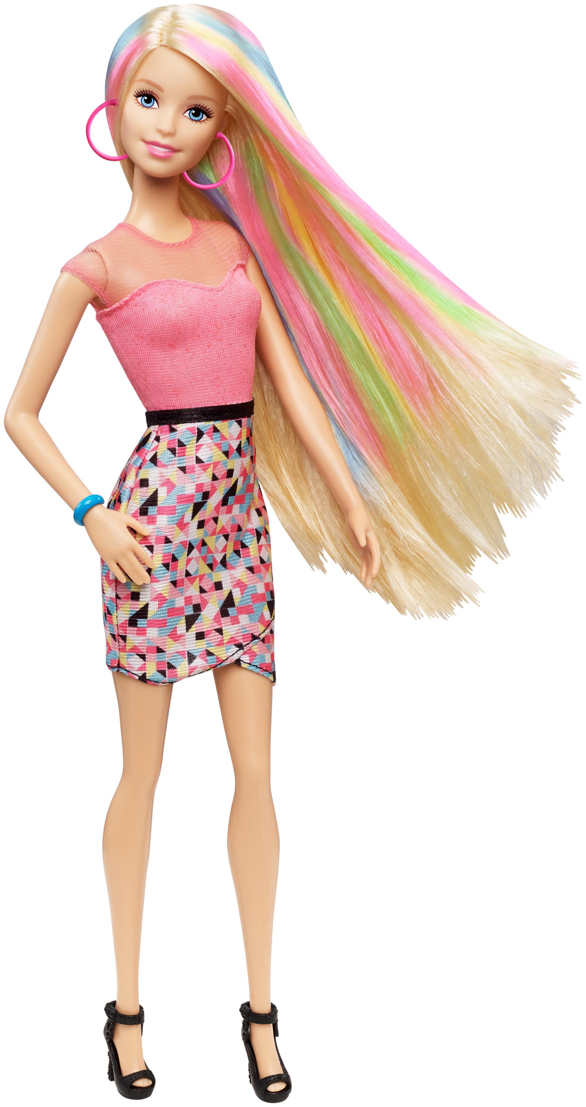 Amazon.com: Barbie Rainbow Hair Doll: Toys & Games