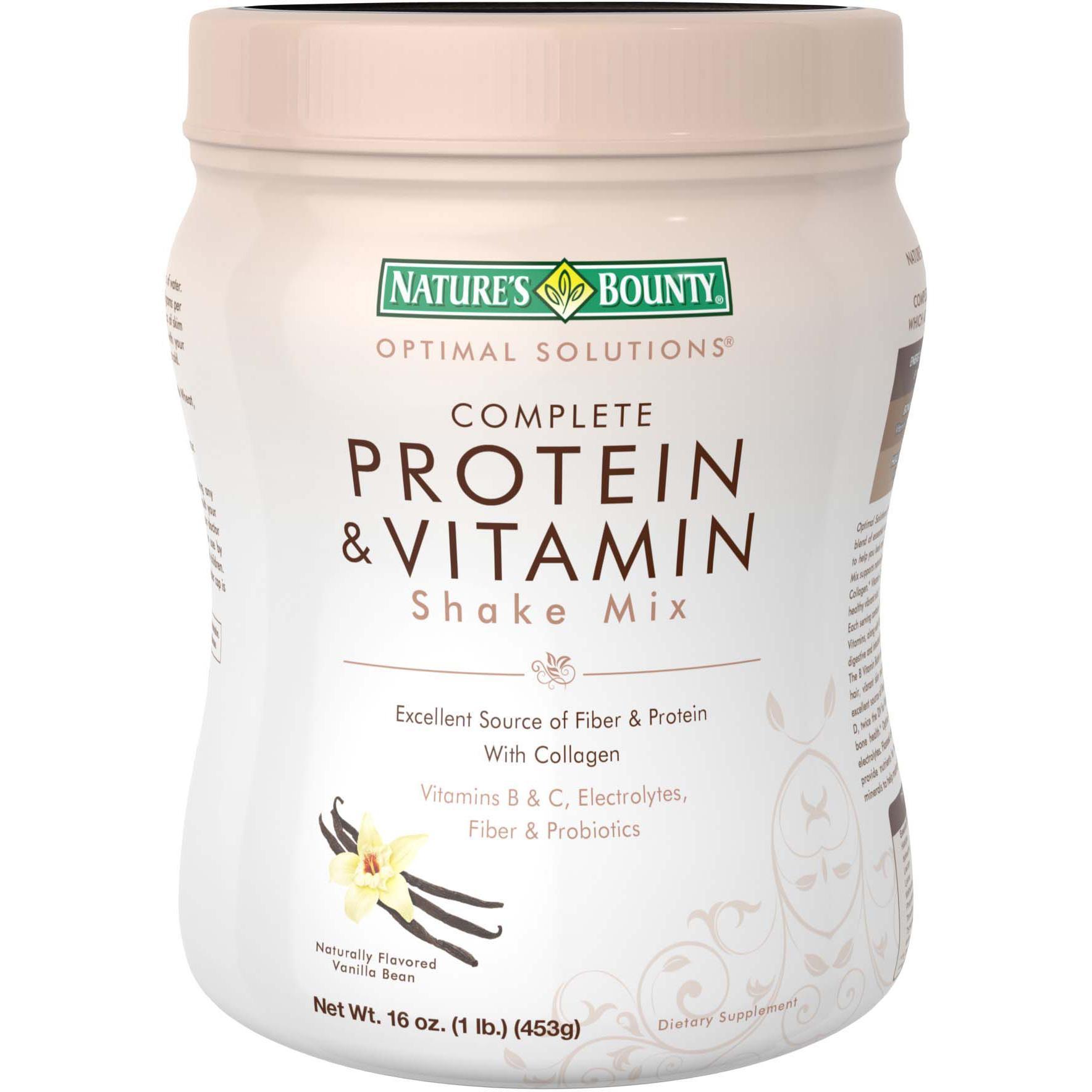 Nature S Bounty Optimal Solutions Protein Shake Vanilla