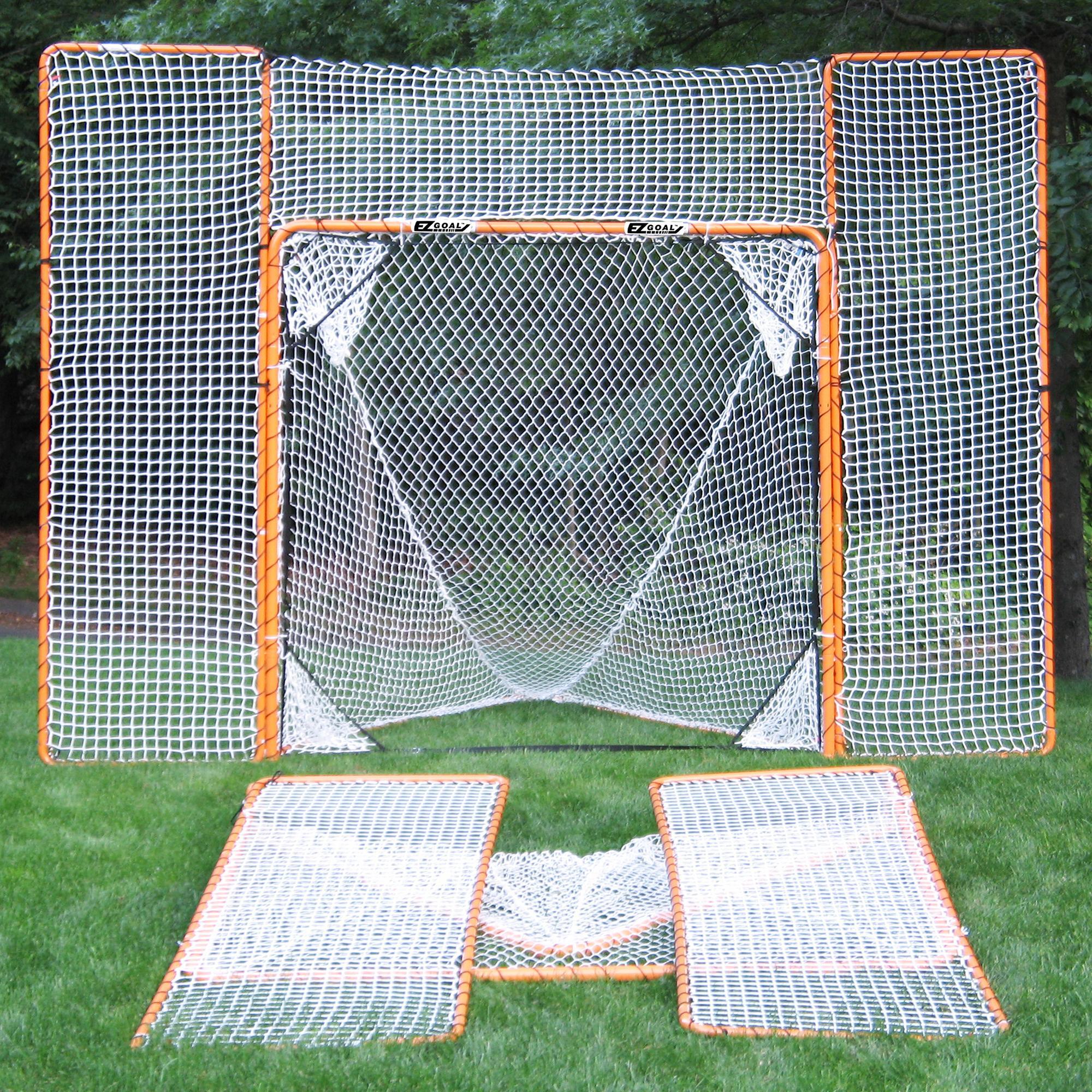 Amazon Com Ezgoal Lacrosse Folding Goal With Backstop And