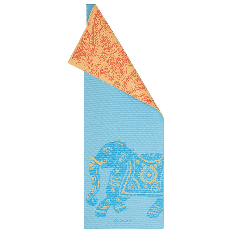 Amazon Com Gaiam Print Premium Reversible Yoga Mat 5 Mm