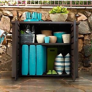 Amazon Com Rubbermaid Patio Chic Cabinet Patio Lawn