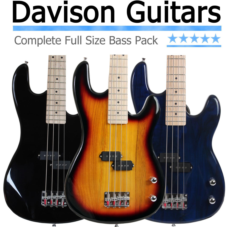 full size electric bass guitar starter beginner pack with amp case strap black. Black Bedroom Furniture Sets. Home Design Ideas