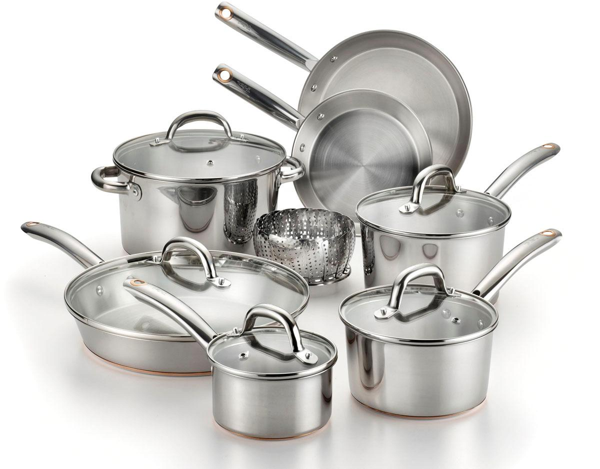 Amazon Com T Fal C836sd Ultimate Stainless Steel Copper
