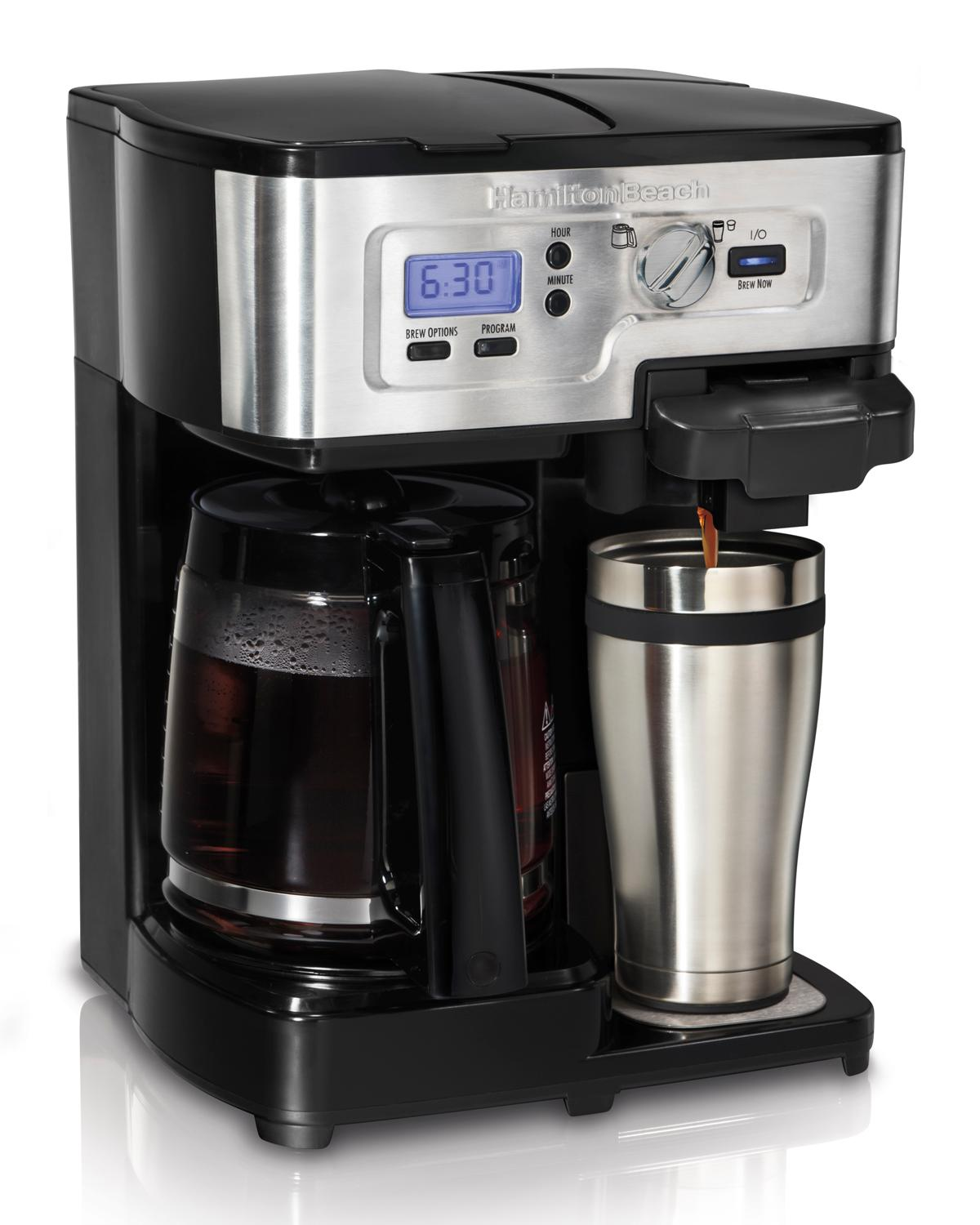 Coffee Makers Grind And Brew Amazon.com: Hamilton Beach Single Serve Coffee Brewer and ...