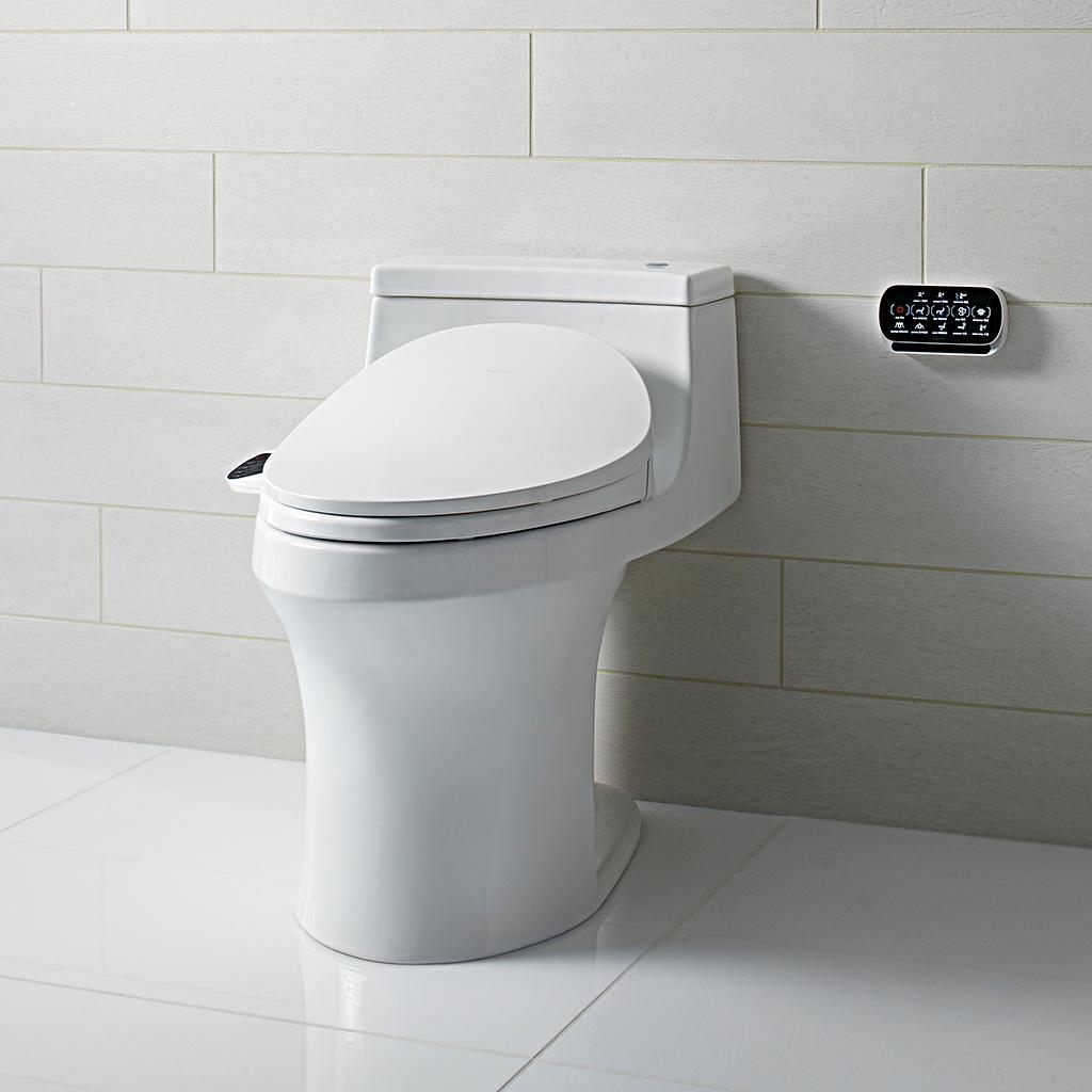 Kohler K 4108 0 C3 230 Elongated Bidet Toilet Seat With