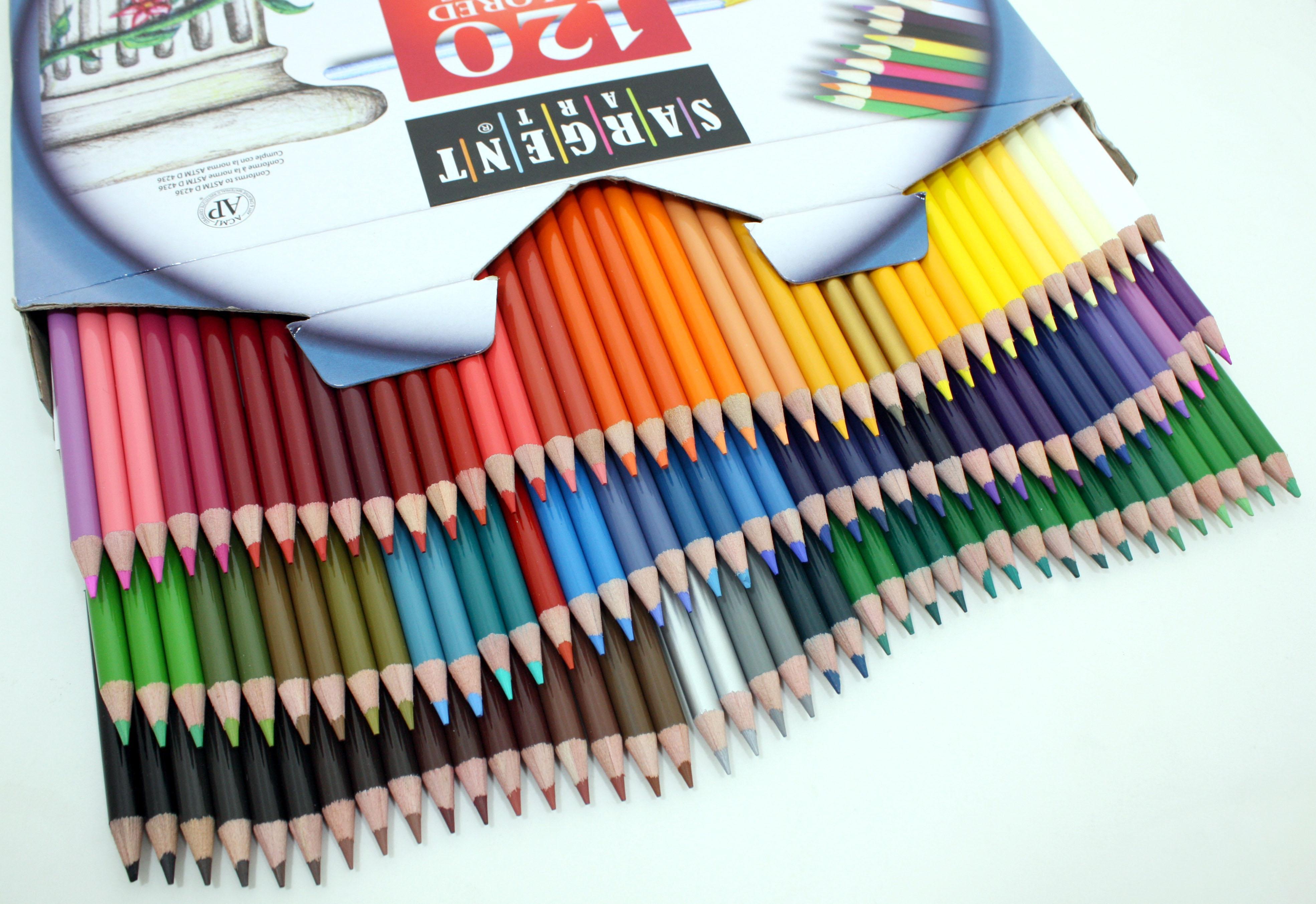 sargent art 22 7252 120 count best buy assortment colored pencils arts crafts sewing. Black Bedroom Furniture Sets. Home Design Ideas