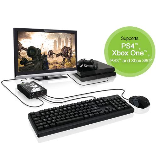 iogear keymander keyboard and mouse adapter for ps4 ps3 xbox one and xbox 360. Black Bedroom Furniture Sets. Home Design Ideas