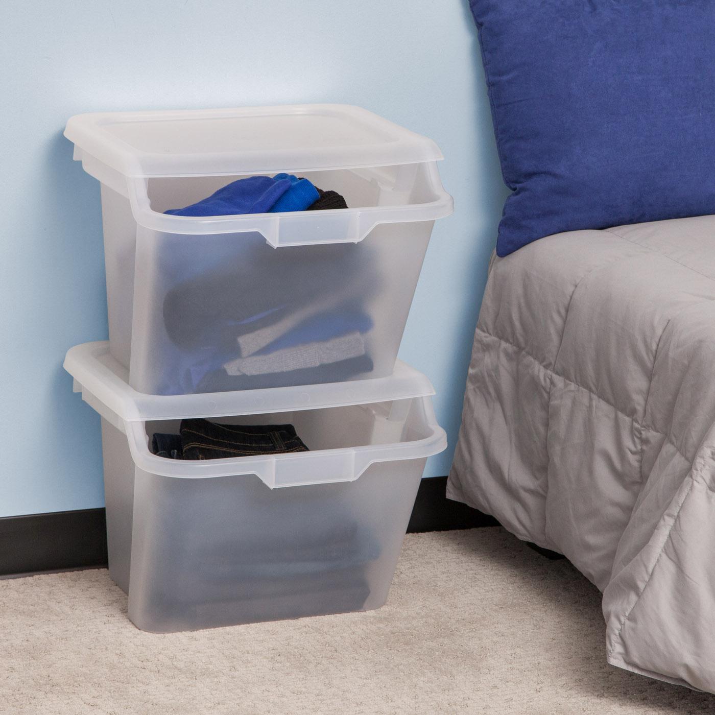 Amazon Com Iris Stackable Storage Bins 6 Piece Home