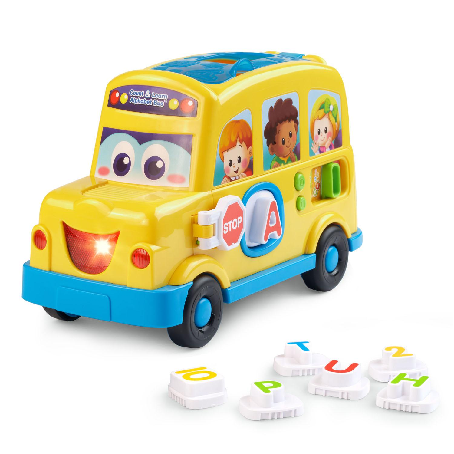Amazon Com Vtech Count And Learn Alphabet Bus Toys Amp Games
