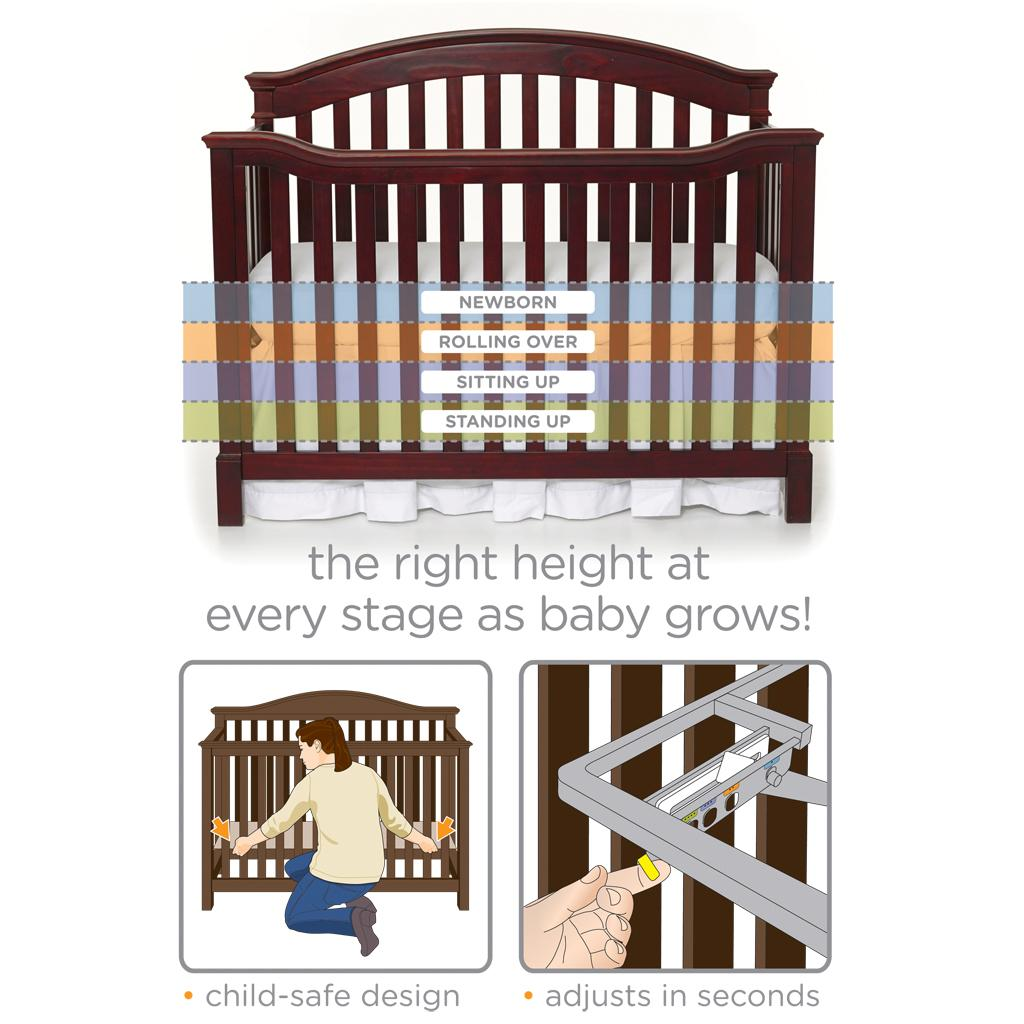 5 Cool Cribs That Convert To Full Beds: Amazon.com : Summer Infant Bryant 4-in-1 Convertible Crib