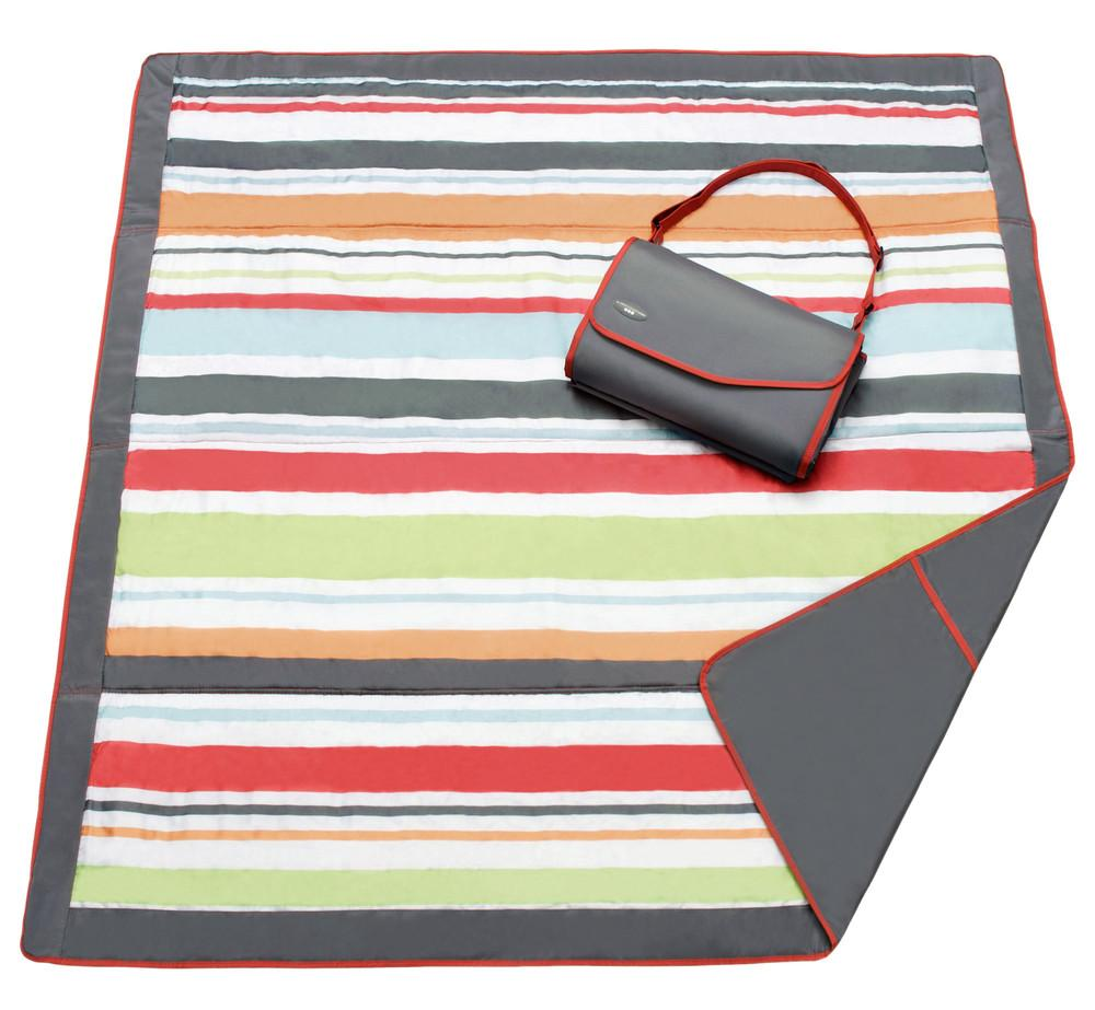 Amazon Com Jj Cole Outdoor Blanket Gray Red 5 X 5