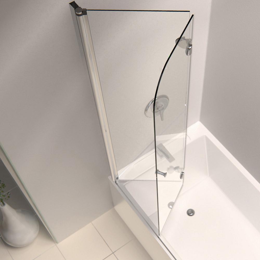 Dreamline Aquafold 36 In Frameless Hinged Tub Door Clear