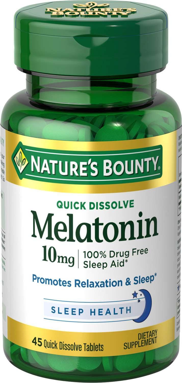 melatonin bounty mg tablets natures dissolve quick nature sleep amazon dissolving pills wake sleeping hormone rest improve spectrum tips relaxation
