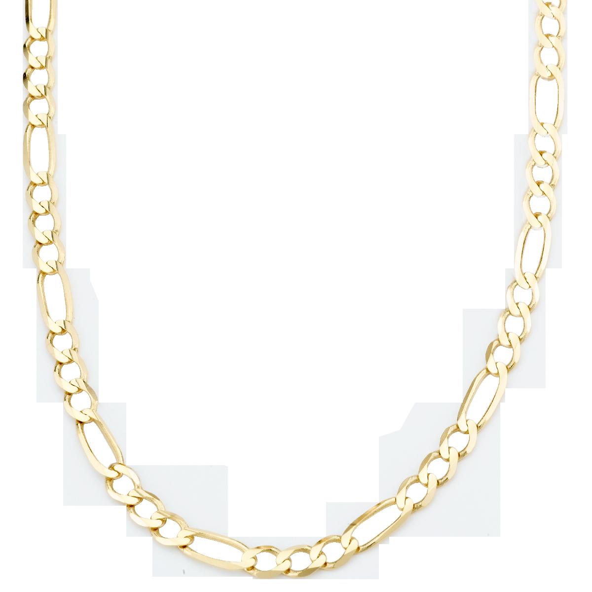 Amazon.com: Men's 14k Yellow Gold 3.1mm Figaro Chain ...