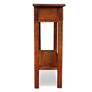 Amazon Com Leick Mission Console Table Hall Stand Russet Entryway Furniture