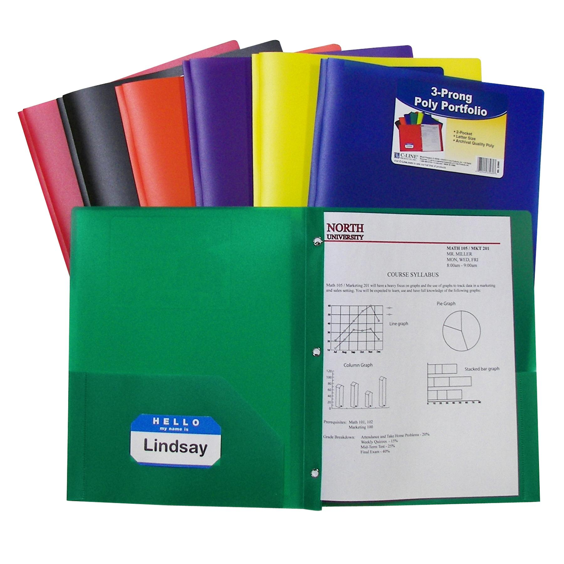 Amazon Com C Line Recycled Two Pocket Paper Portfolio