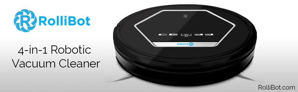 Rollibot Robot Vacuum Cleaner Sweeps Cleans Mops And