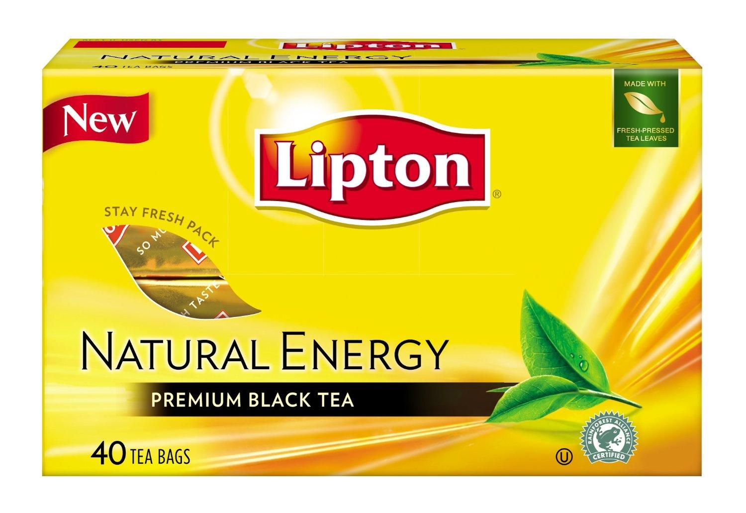 LIPTON BLACK TEA ENERGY