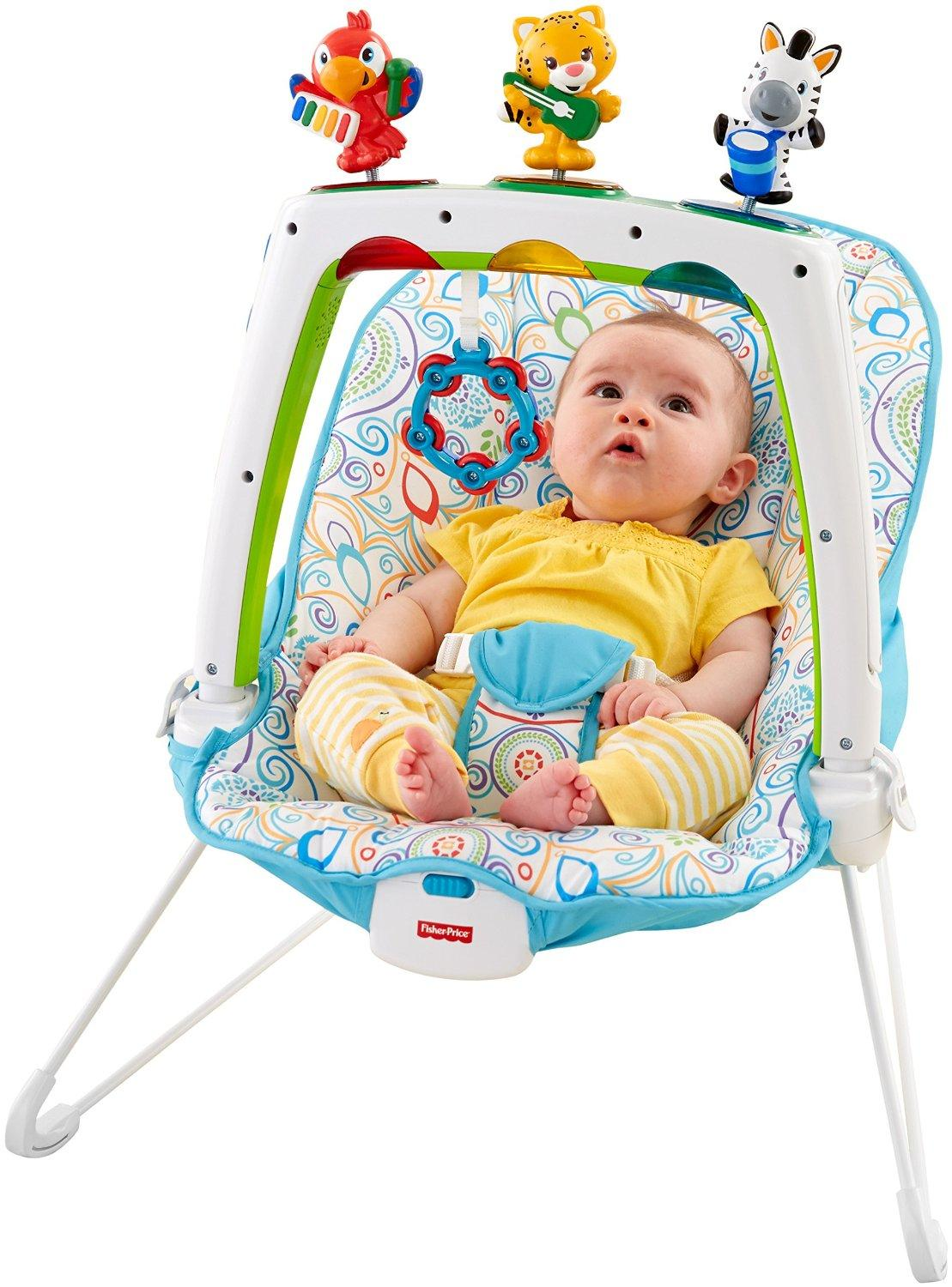 Amazon Com Fisher Price Musical Friends Bouncer Baby