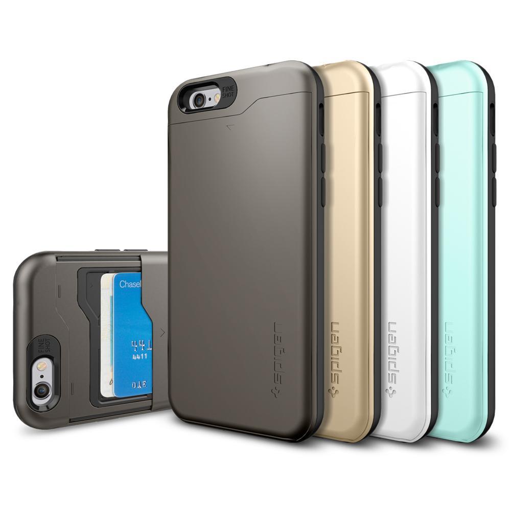 Iphone 6 case spigen card slot slim armor for Amazon casa