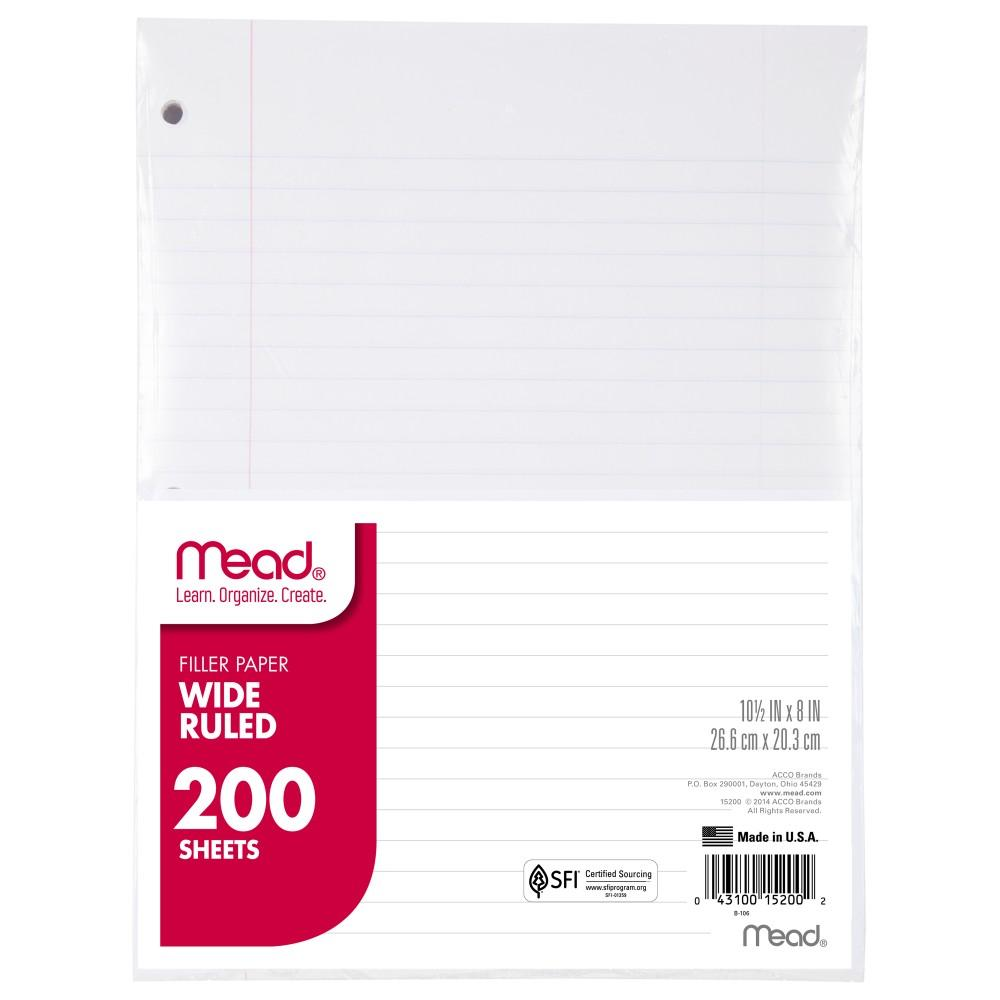 Amazon.com : Mead Filler Paper, Loose Leaf Paper, Wide