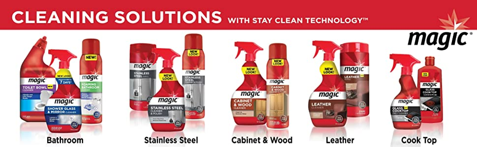 Amazon Com Magic Cabinet Amp Wood Clean Amp Shine 14 Fl Oz