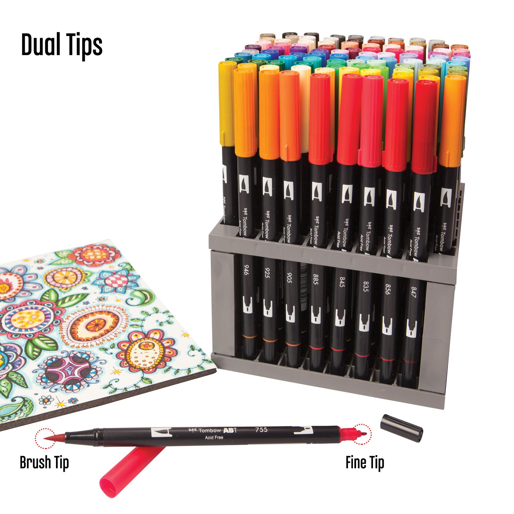 Amazon.com: Tombow Dual Brush Pen Desk Stand, 96 Color Set ...  Amazon.com: Tom...