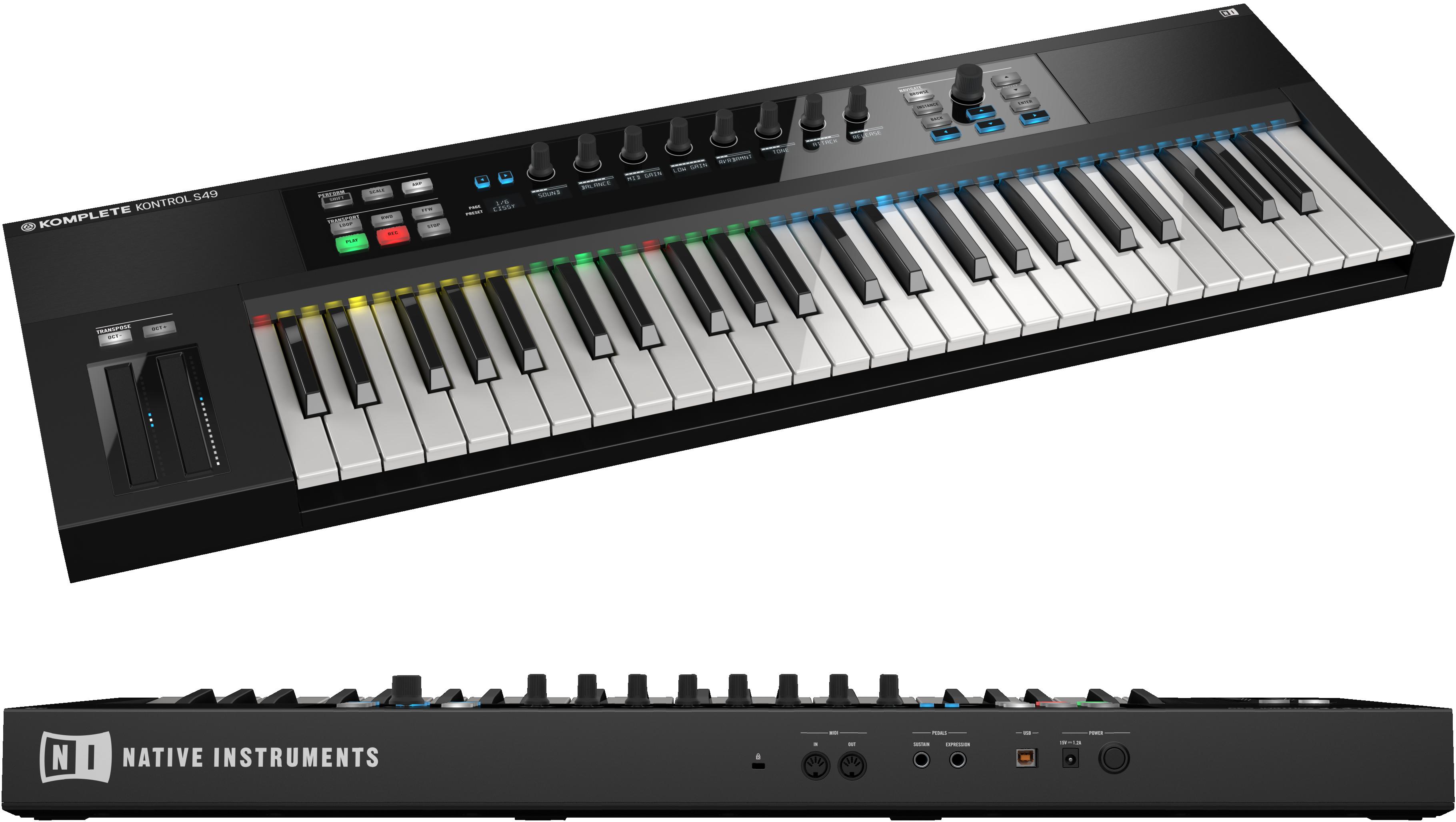 native instruments komplete kontrol s49 keyboard musical instruments. Black Bedroom Furniture Sets. Home Design Ideas