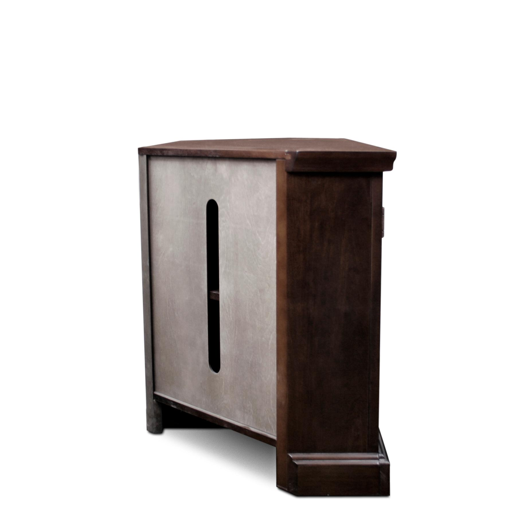 Amazon Com Leick 81386 Chocolate Cherry Corner Tv Stand
