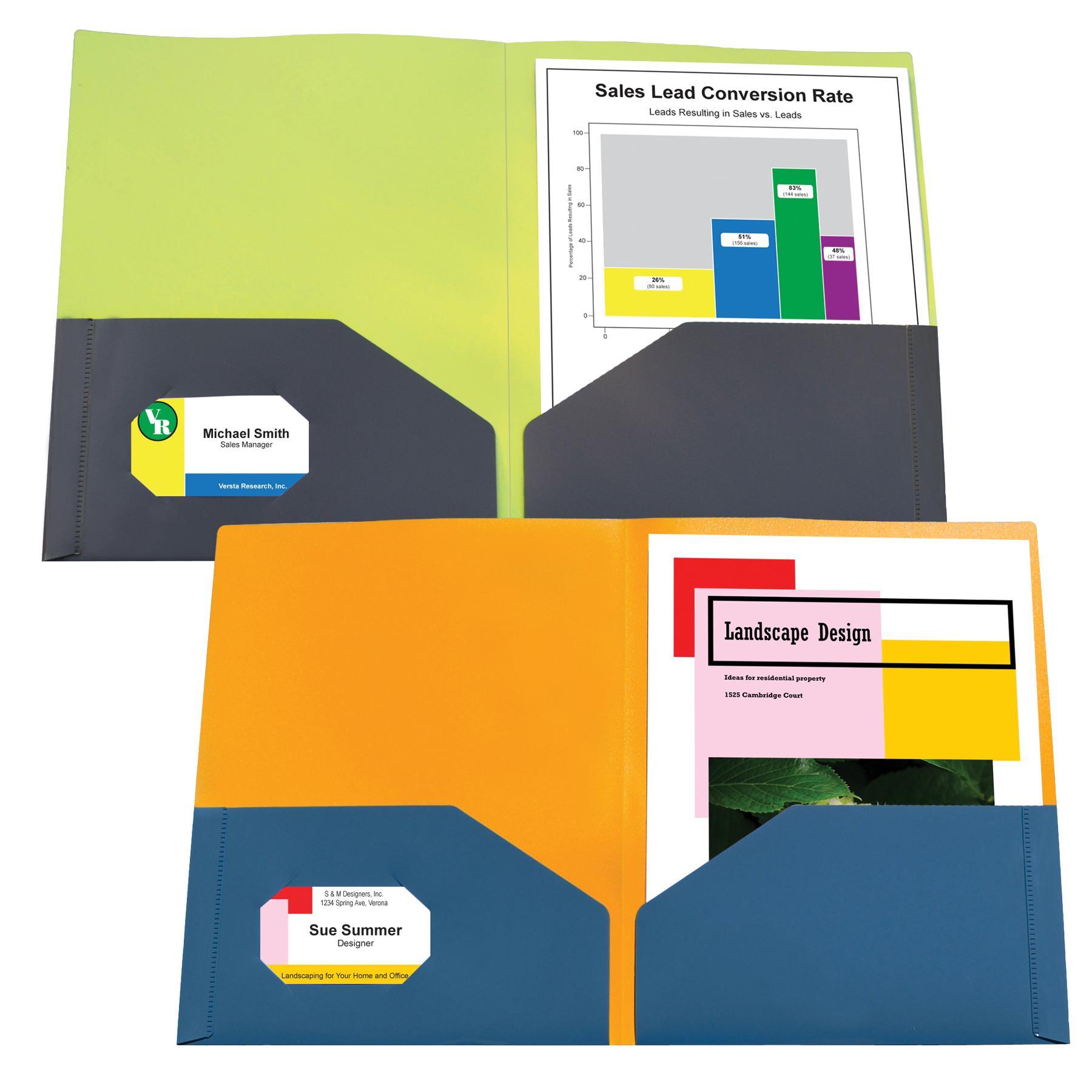 Super Heavyweight Polypropylene Folders Poly Ports