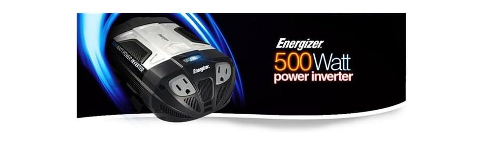 Amazon Com Energizer 500w Power Inverter 12v Dc Cigarette