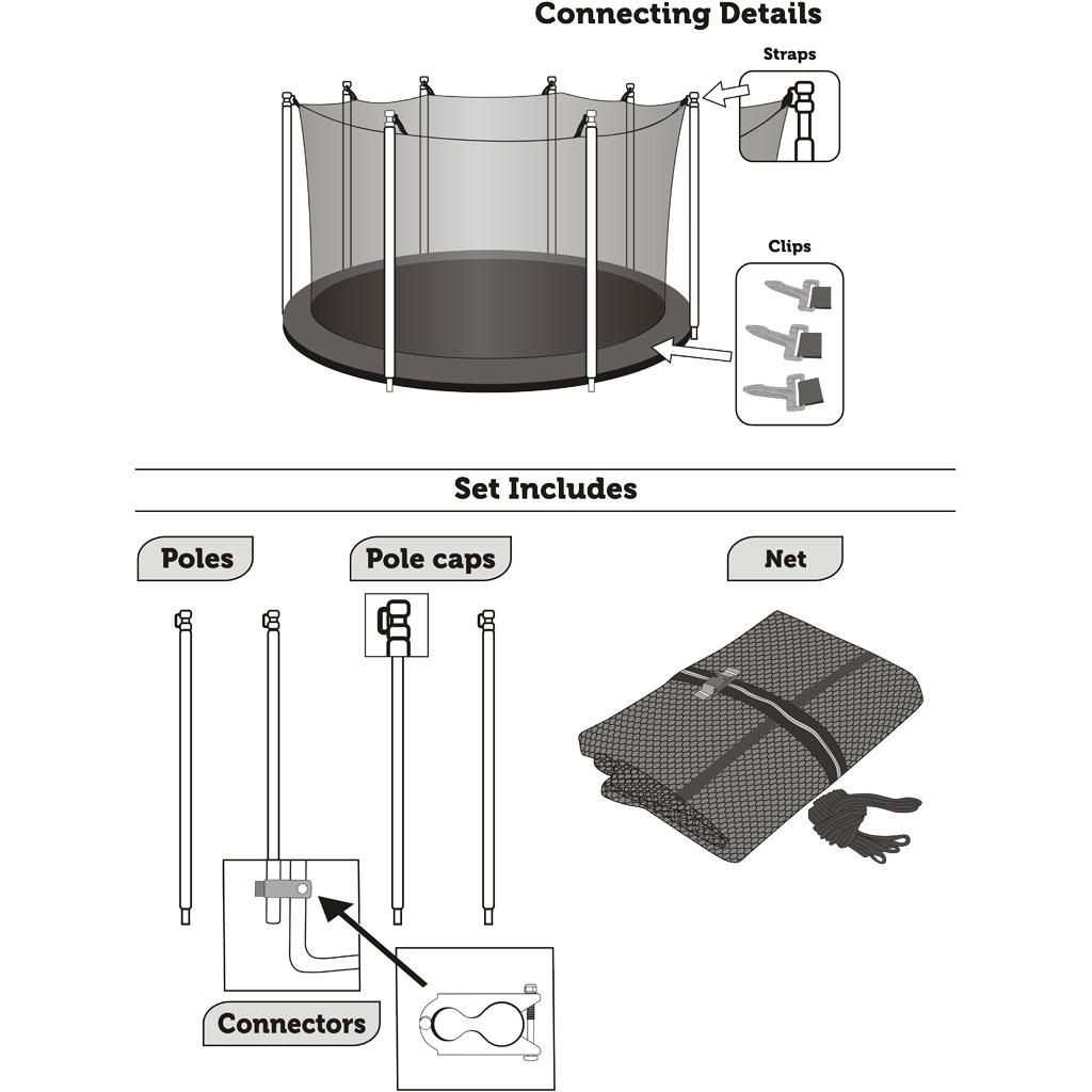 Trampoline Parts Replacement: Amazon.com : Trampoline Replacement Enclosure Set